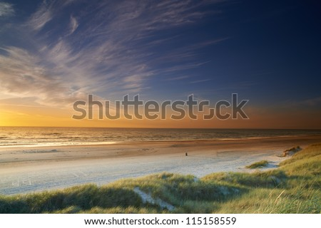 A photo of sunset at the beach - Jutland, Denmark