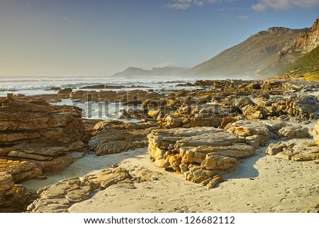 A photo of The coast near Cape Town, South Africa.