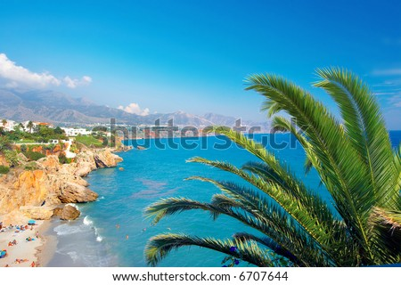 A photo of the coast of Costa Del Sol from a luxury villa