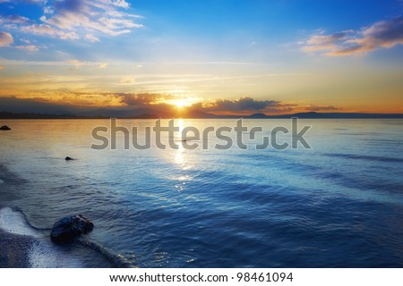 A photo of the Coastline of New Zealand - Wellington area - stock photo