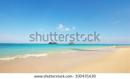 A photo of the tropical icon beach - stock photo