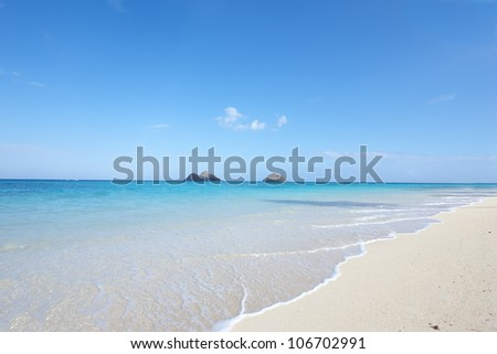 A photo of tropical beach - Oahu, Hawaii