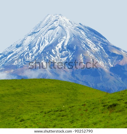 A photo of volcano in New Zealand