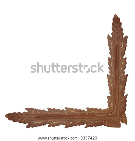 a photo of wooden decoration