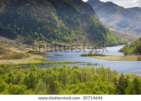 A photography of a great scottish landscape