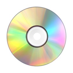 A photography of a isolated cd rom