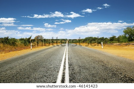 A photography of a road in Australia