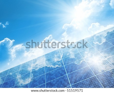 A photography of a solar panel background