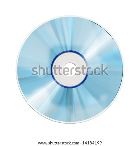 A photography of an isolated blue cd rom