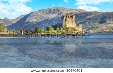 A photography of the Eilean Donan Castle in Scotland