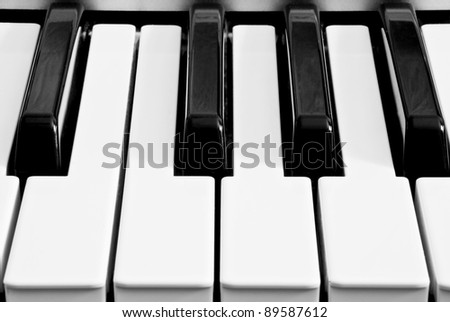 a piano keyboard as a background - stock photo