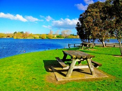 A picnic spot by Henley Lake,Masterton, New Zealand