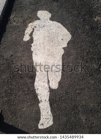 A pictogram for road running people #1435489934