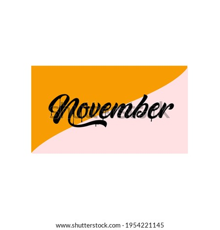 A picture about November in gradien color Stock fotó ©