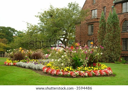 A picture of a beautiful flower garden