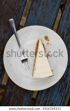A picture of a cheesecake dessert on the table