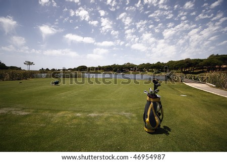 A picture of a golf course - sports concept.