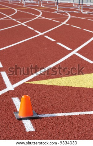 a picture of a track and field venue