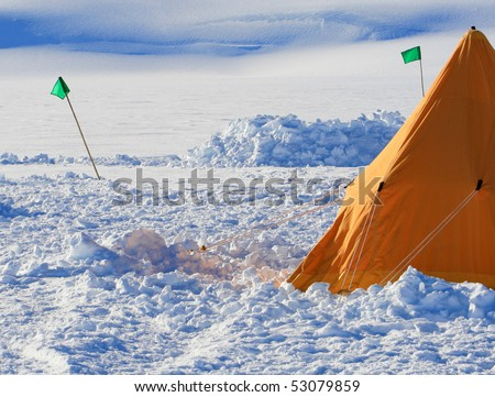 A picture of Antarctic field camp