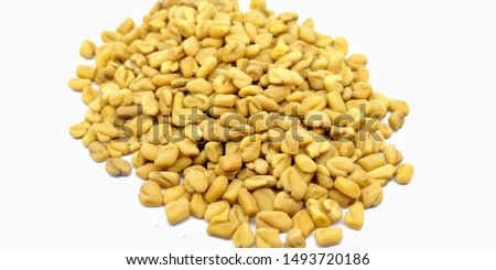 A picture of fenugreek on a white background