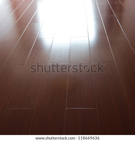 a picture of hardwood floors - stock photo