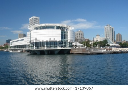 A picture of Milwaukee architecture on the lake front