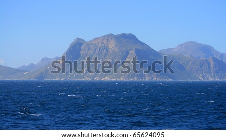A picture of mountainous coast of South Africa