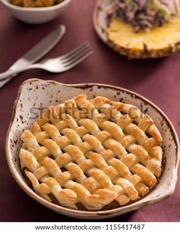 A picture of pie made for parsi new year. Jamshedi Navroz or the Parsi New Year falls today17th 2017 and marks the beginning of New Year as per the Parsi Calendar.