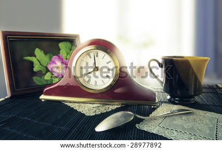 A picture of retro alarm clock