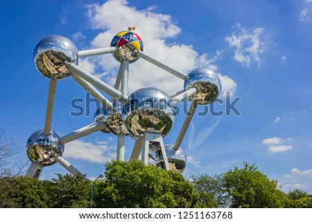 A picture of the Atomium (Brussels). #1251163768