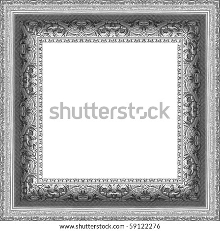a picture silver frame on a white