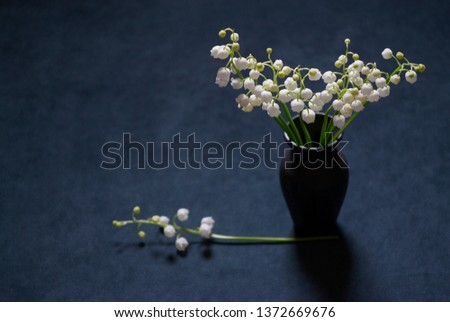 A picture With Bouquet Of Lily Of The Valley. Still Life \with Lily Of The Vally