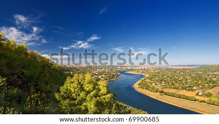 a picturesque landscape with river valleys