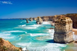 A picturesque photo of The Twelve Apostles, Australia.