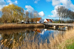 A picturesque scene in the little village of Damme, near Brugge, in Belgium