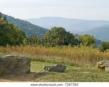 A picturesque view from Skyline Drive at Shenandoah National Park in West Virginia.