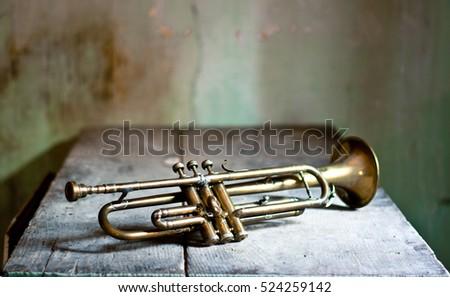 A piece of antiquity, a jazz trumpet