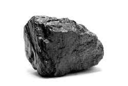 a piece of coal isolated on white