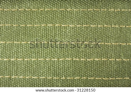 a piece of military like fabric in Olive green color.
