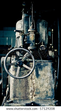 a piece of old and rusty machinery