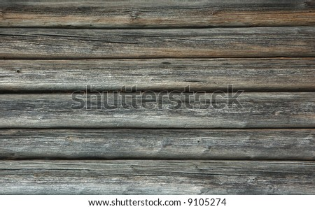 A piece of old wooden peasant house wall