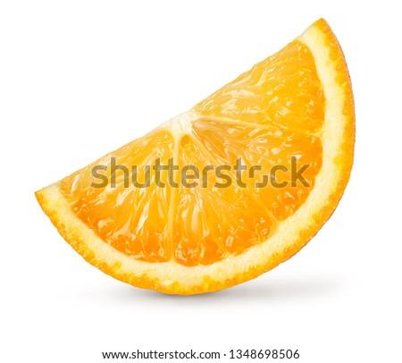 A piece of orange, cut out.