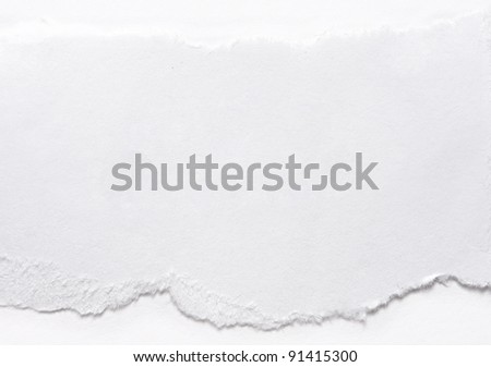 A piece of paper on white
