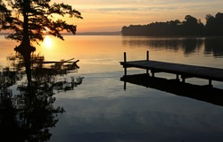 A pier at sunrise - Reelfoot Lake State Park, Tennessee