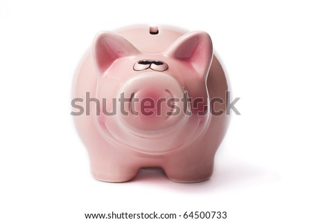 A pig to save your money in time - stock photo