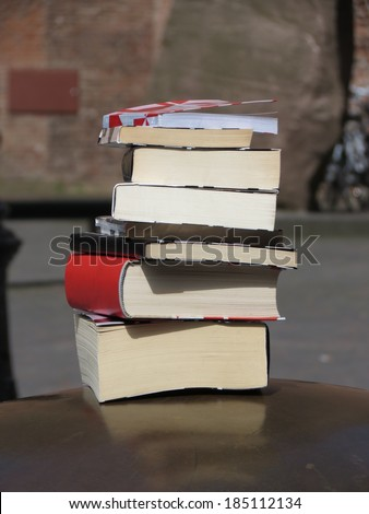 a pile of books useful as culture or literature or reading concept