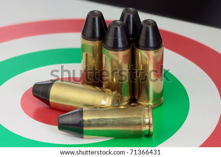 A pile of .9 caliber bullets
