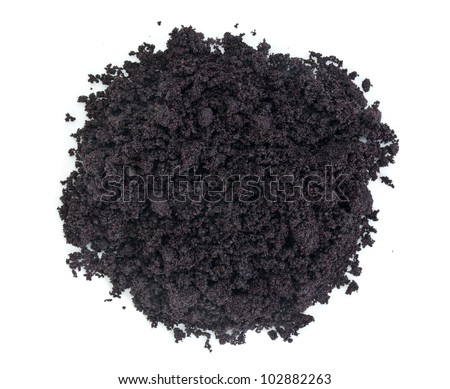 a pile of organic freeze-dried acai berry powder - Amazon superfood - nutritional supplement