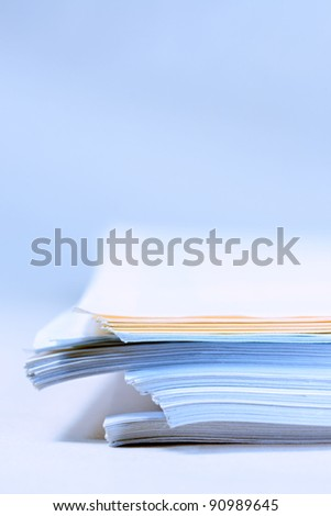 A pile of paper