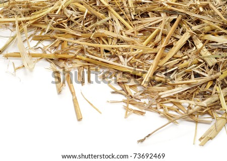 a pile of straw on a white background #73692469